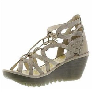 FLY London Yuke Sandals in Taupe 37